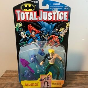 Brand New! Total Justice Action Figure AQUAMAN